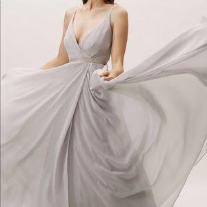 BHLDN Gray Bridesmaids Dress